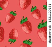 strawberry seamless pattern... | Shutterstock .eps vector #1321120181