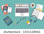 auditing concept vector... | Shutterstock .eps vector #1321128461