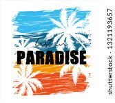 decorative lost in paradise... | Shutterstock .eps vector #1321193657