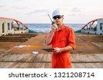 marine deck officer or chief... | Shutterstock . vector #1321208714