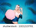 sexy girl posing with huge... | Shutterstock . vector #1321215701