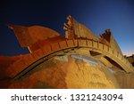 reclaimer wheel bucket... | Shutterstock . vector #1321243094