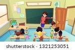 angry  annoyed female teacher... | Shutterstock .eps vector #1321253051