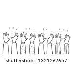 applause hand drawn | Shutterstock .eps vector #1321262657