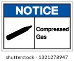 notice compressed gas symbol... | Shutterstock .eps vector #1321278947