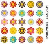 set from twenty five flowers...   Shutterstock .eps vector #13212934