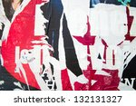 old posters grunge textures and ... | Shutterstock . vector #132131327