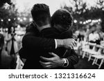 a groom is hugging with a best...   Shutterstock . vector #1321316624