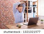 portrait of happy businessman... | Shutterstock . vector #1321321577