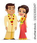 a vector of a happy couple from ... | Shutterstock .eps vector #1321333247