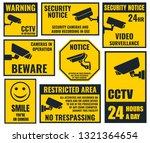 security camera sign  cctv... | Shutterstock . vector #1321364654