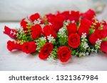 close up artificial rose... | Shutterstock . vector #1321367984