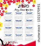 2020 calendar for new year of... | Shutterstock .eps vector #1321370951