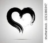 Dirty Brush Ink Paint Of Heart...