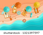 beach top view background with... | Shutterstock .eps vector #1321397597