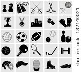 sports icons set elegant series.... | Shutterstock .eps vector #132140021