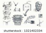 literature hand drawn vector... | Shutterstock .eps vector #1321402334