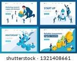 set template design  isometric... | Shutterstock .eps vector #1321408661