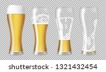 tall realistic glasses with... | Shutterstock .eps vector #1321432454