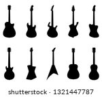 set of guitar silhouettes ... | Shutterstock .eps vector #1321447787