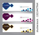 vector abstract web banner... | Shutterstock .eps vector #1321447964
