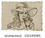 an hand drawn illustration ... | Shutterstock .eps vector #132145085