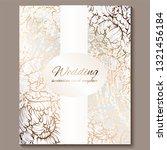 antique royal luxury wedding... | Shutterstock .eps vector #1321456184