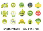 organic food sticker. vector... | Shutterstock .eps vector #1321458701