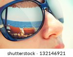 reflection of a tropical resort ... | Shutterstock . vector #132146921