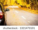 car on the road around the...   Shutterstock . vector #1321473101