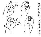various gestures of human... | Shutterstock .eps vector #1321502564