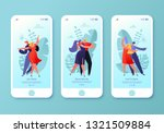 mobile app page  screen set.... | Shutterstock .eps vector #1321509884