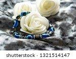 Blue Bracelet Made Of Natural...