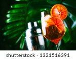 aperol spritz cocktail in big... | Shutterstock . vector #1321516391