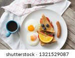 sandwich with ham and tomatoes...   Shutterstock . vector #1321529087