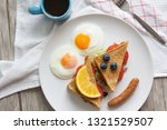 sandwich with ham and tomatoes...   Shutterstock . vector #1321529507
