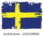 flag of sweden  | Shutterstock . vector #1321538981