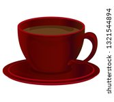 red cup of coffee. vector... | Shutterstock .eps vector #1321544894