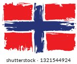 grungy flag of norway  | Shutterstock . vector #1321544924