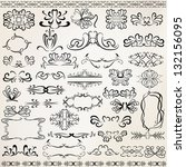 vector set of design elements... | Shutterstock .eps vector #132156095