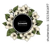 vector frame with jasmine... | Shutterstock .eps vector #1321561697