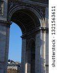 arc de triomphe  paris.... | Shutterstock . vector #1321563611