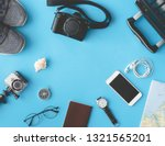 top view travel concept with... | Shutterstock . vector #1321565201