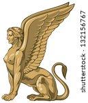 sphinx  a demon of esoteric... | Shutterstock .eps vector #132156767
