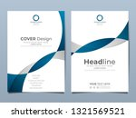 blue corporate identity cover... | Shutterstock .eps vector #1321569521