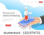 flat vector landing page... | Shutterstock .eps vector #1321576721