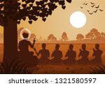 lord of buddha sermon to five... | Shutterstock .eps vector #1321580597