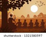 Lord Of Buddha Sermon To Five...