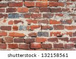 Red Brick Background  Closeup...