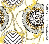 chain seamless pattern with...   Shutterstock .eps vector #1321591097
